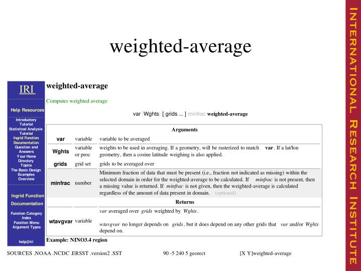 weighted-average
