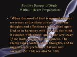 positive danger of study without heart preparation1