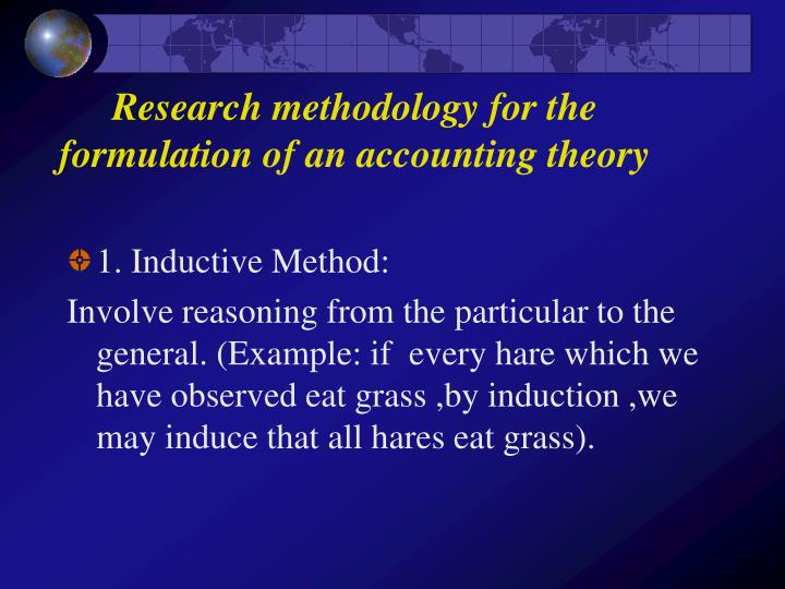 research methodology for the formulation of an accounting theory n.