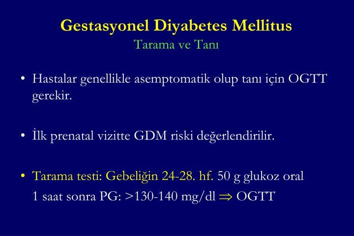 Gestasyonel Diyabetes Mellitus