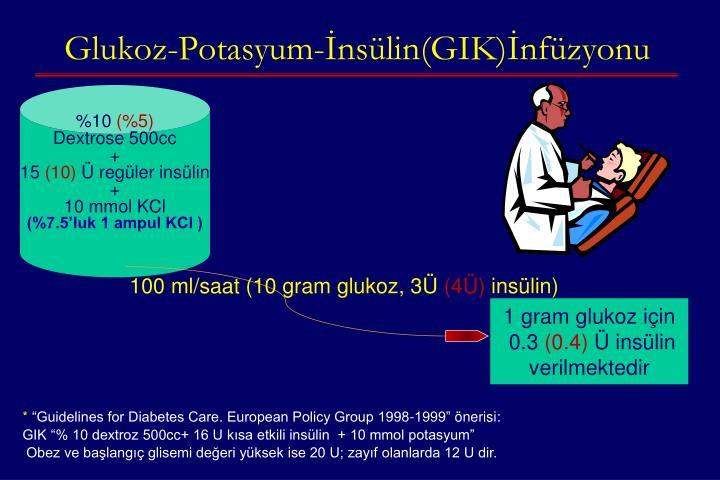Glukoz-Potasyum-İnsülin(GIK)İnfüzyonu
