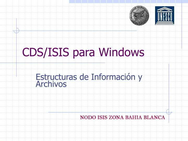cds isis para windows n.