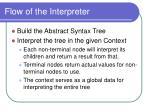flow of the interpreter