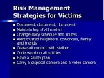 risk management strategies for victims