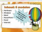 inhoud 6 modulen