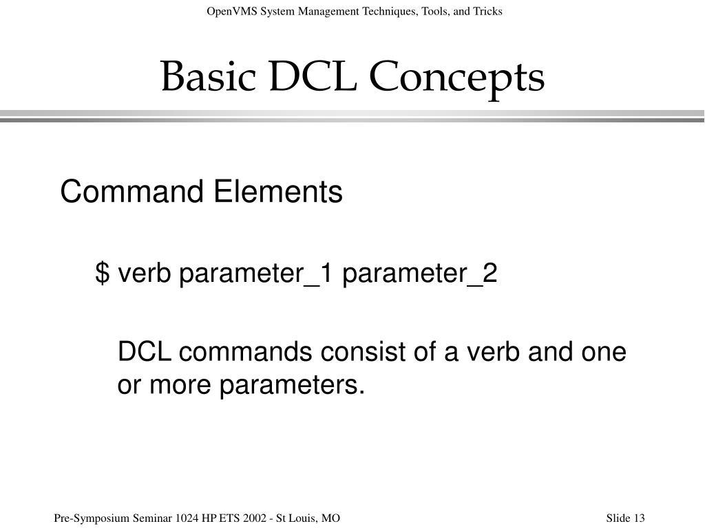 Basic DCL Concepts