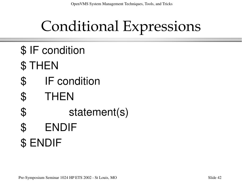 Conditional Expressions