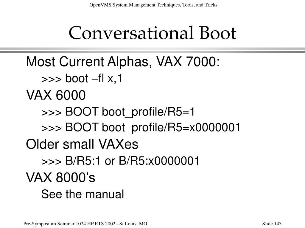 Conversational Boot