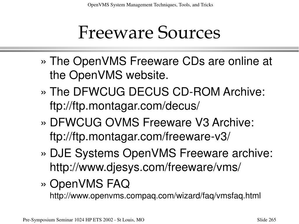 Freeware Sources