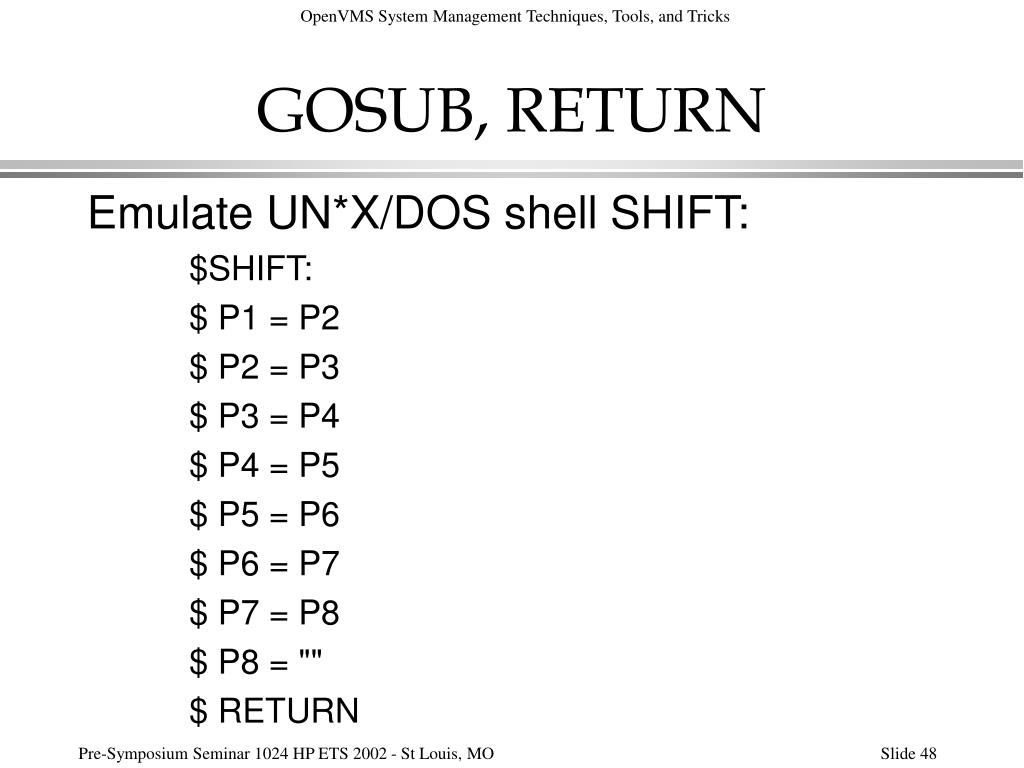 GOSUB, RETURN