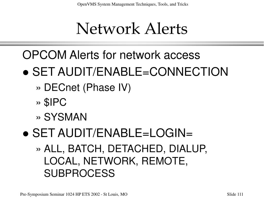 Network Alerts