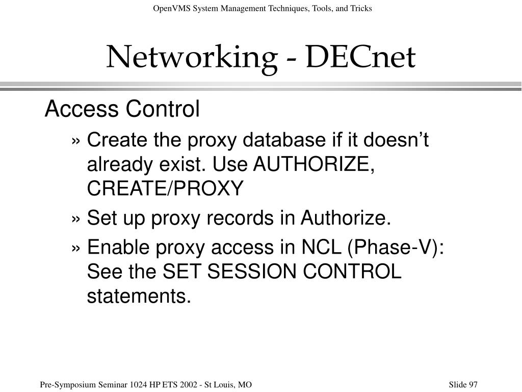 Networking - DECnet
