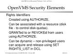 openvms security elements261