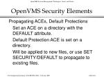 openvms security elements262