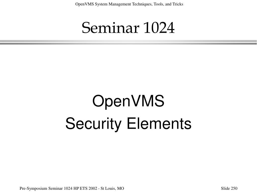 Seminar 1024