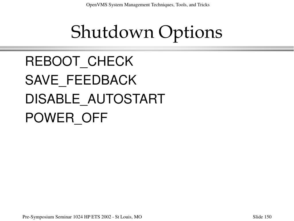 Shutdown Options