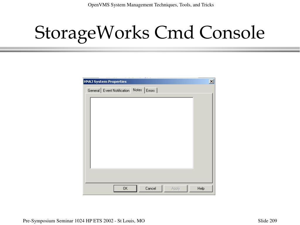 StorageWorks Cmd Console