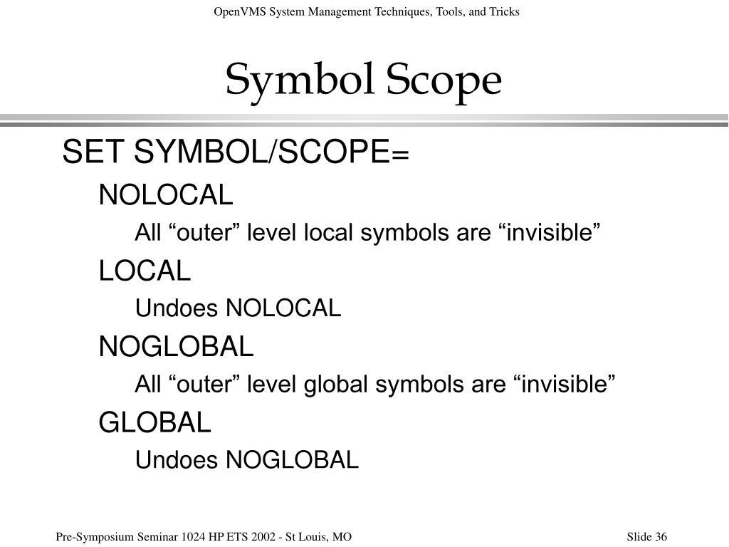 Symbol Scope