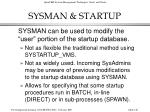 sysman startup140