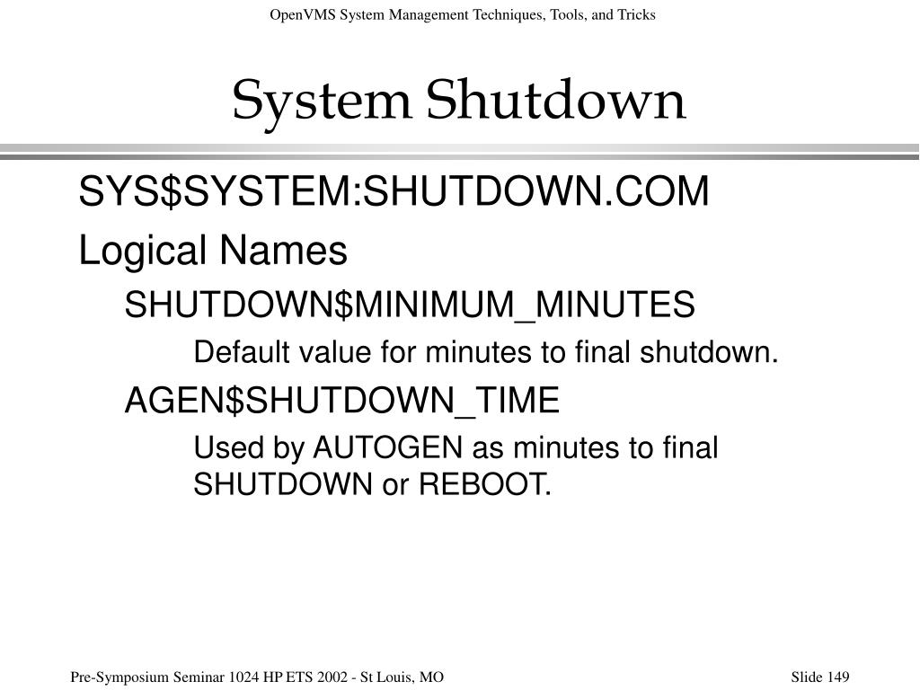 System Shutdown
