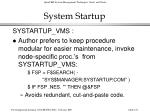 system startup123