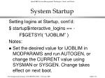 system startup132
