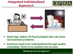integrated individualised approach