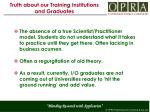 truth about our training institutions and graduates2