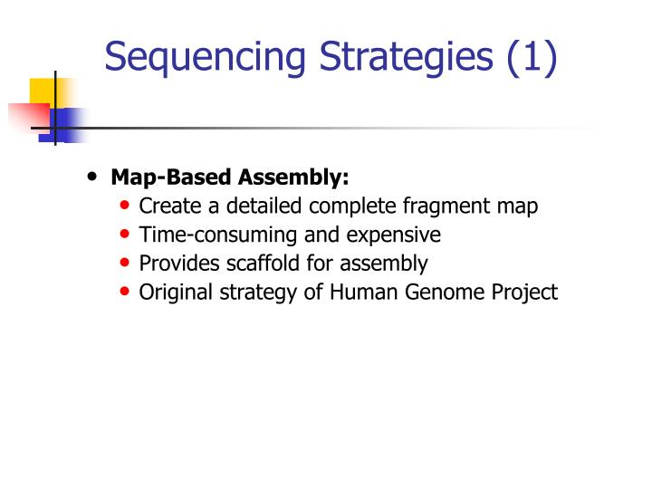 Sequencing Strategies (1)