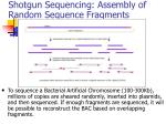 shotgun sequencing assembly of random sequence fragments
