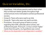 quiz on variables etc