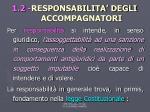 1 2 responsabilita degli accompagnatori