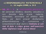 c responsabilita patrimoniale l 11 luglio 1980 n 312