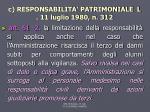 c responsabilita patrimoniale l 11 luglio 1980 n 3121
