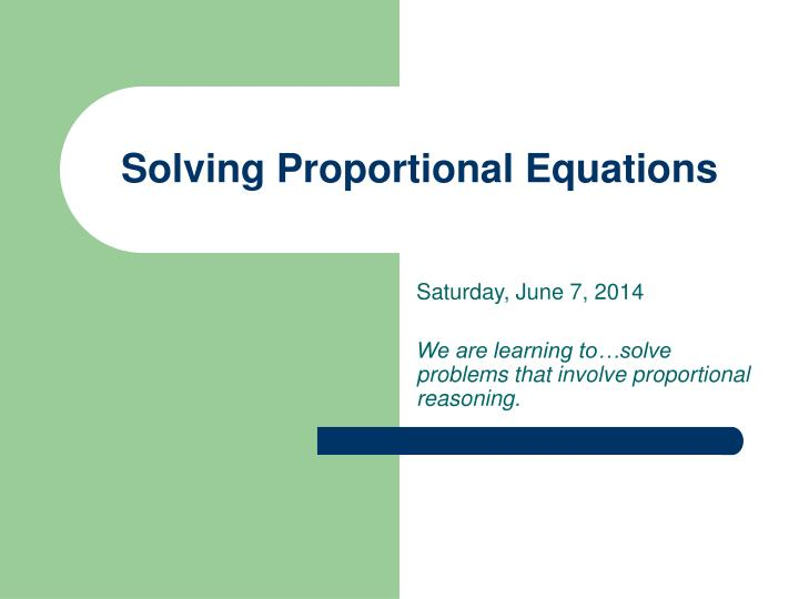 solving proportional equations n.