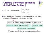 ordinary differential equations initial value problem