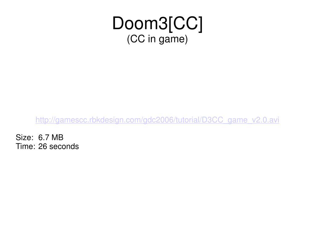 http://gamescc.rbkdesign.com/gdc2006/tutorial/D3CC_game_v2.0.avi