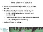 role of forest service