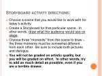 storyboard activity directions