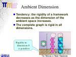 ambient dimension