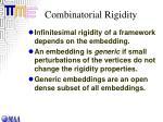 combinatorial rigidity