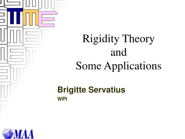rigidity theory and some applications n.