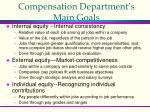 compensation department s main goals