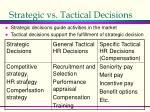 strategic vs tactical decisions
