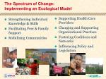 the spectrum of change implementing an ecological model