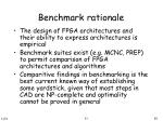 benchmark rationale