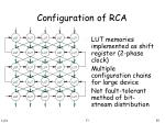 configuration of rca