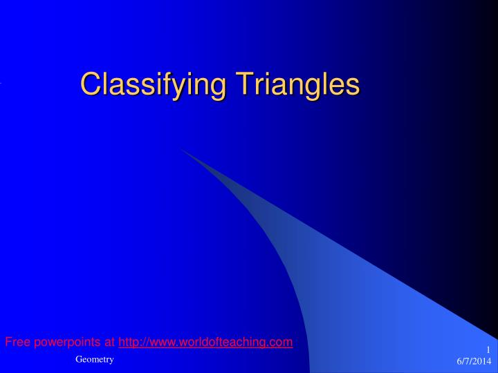 classifying triangles n.