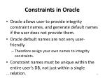 constraints in oracle