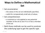 ways to define a mathematical set